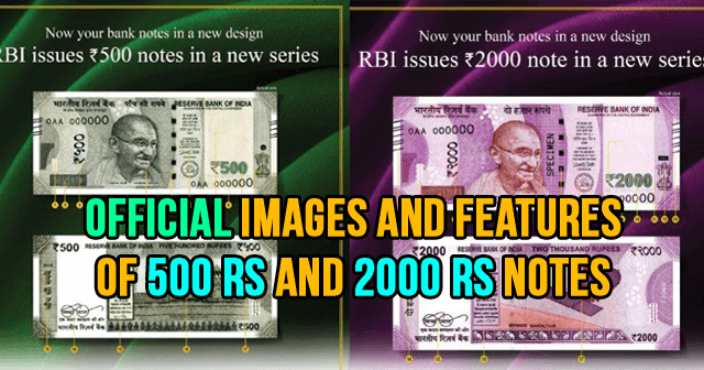 Images And Features Of 500 Rs And 2000 Rs Notes
