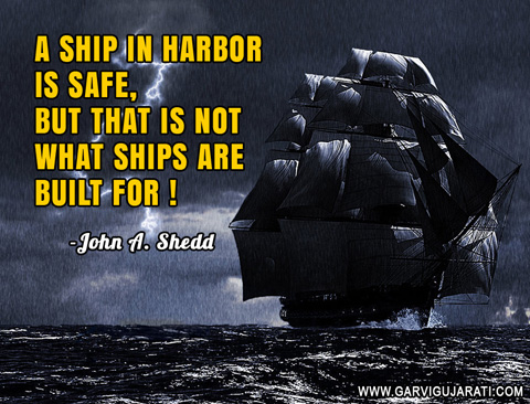 ship in harbor quote john a shedd