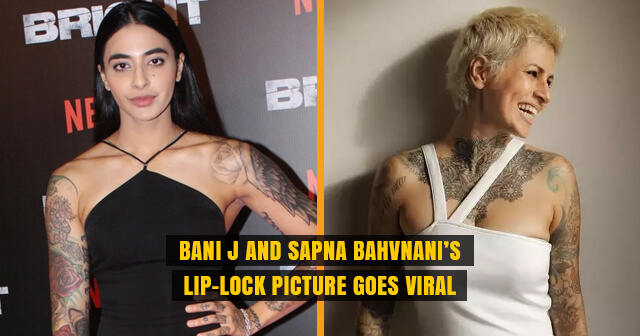 Bani J and Sapna Bahvnani's Lip-Lock Picture