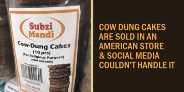 Cow Dung Cakes are Sold in American Store