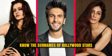 Surnames of Bollywood Stars