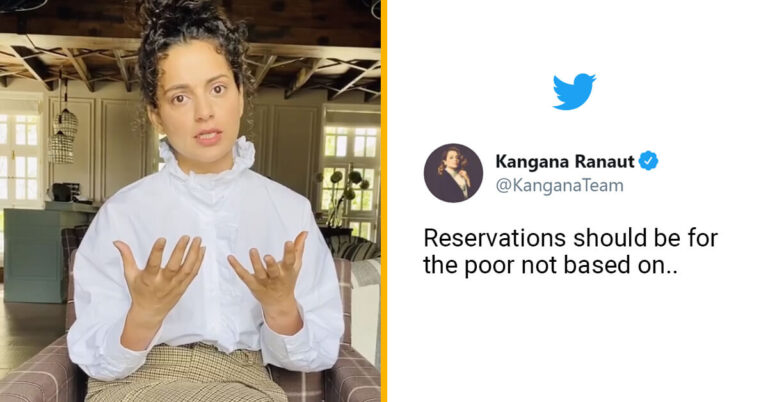 Kangana Ranaut makes Big Statement on Reservation