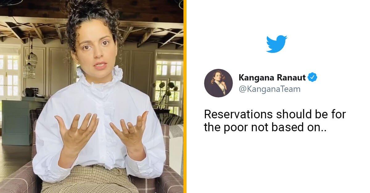 Kangana Ranaut makes Big Statement on Reservation
