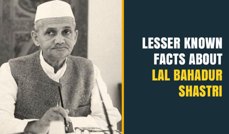 Lesser Known Interesting Facts about Lal Bahadur Shastri whose Contributions towards our Nation are Noteworthy!