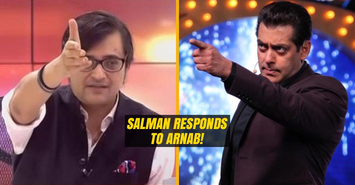 Salman Khan Responds to Arnab Goswami's question
