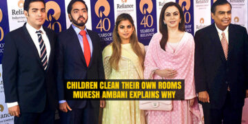 Mukesh Ambani explains why his Children Clean their Room