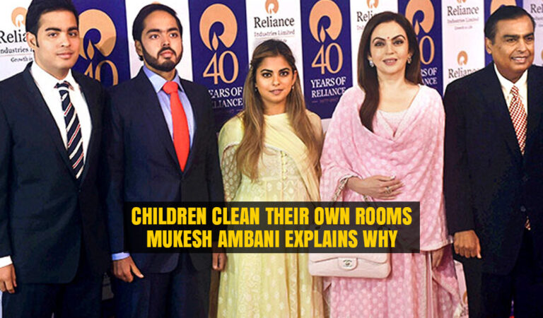 Mukesh Ambani explains why his Children Clean their own Rooms despite having Lot of Servants