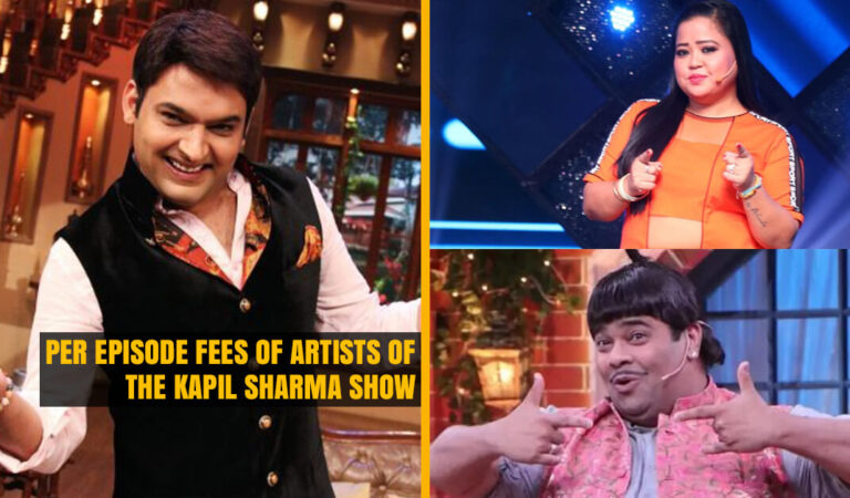 Per Episode Fees of Artists of The Kapil Sharma Show. Kapil Sharma charges Rs..