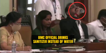 BMC Joint Municipal Commissioner drinks sanitiser