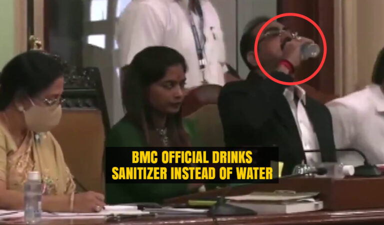 BMC Joint Municipal Commissioner drinks Sanitizer instead of Water by Mistake